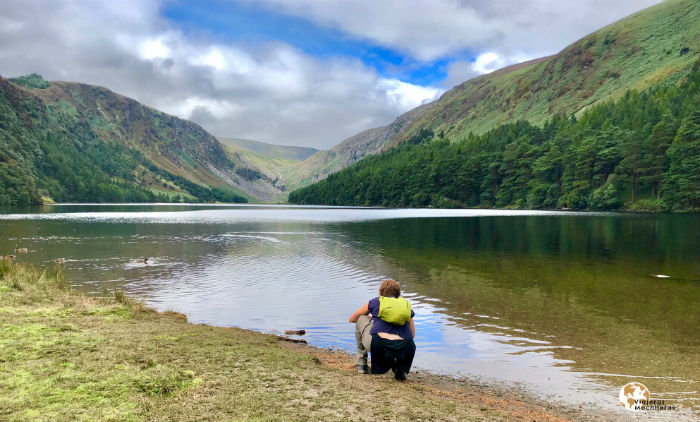 Upper Lake en Glendalough, Wicklow