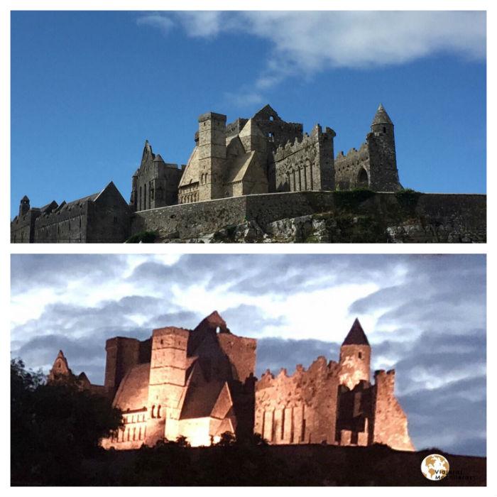 Rock of Cashel de día y de noche