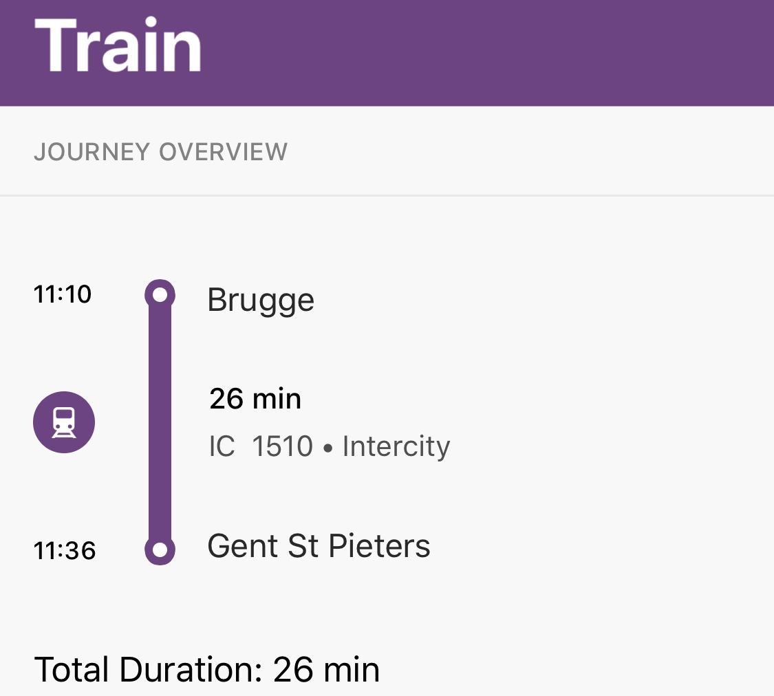 Tren de Brujas a Gante
