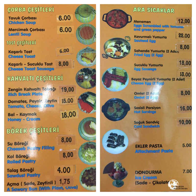 carta comida turca barata sultanahmed