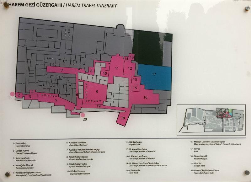 Plano palacio Topkapi en Sultanahmet