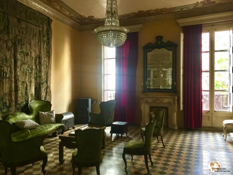 Sala de estar en el Palauet de la Muralla