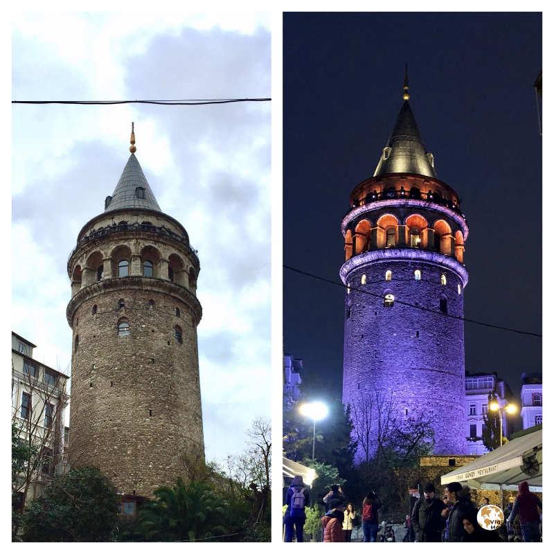 torre gálata en Beyoglu bohemio