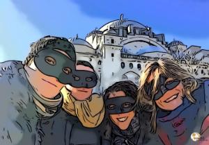 viajeras mochileras en Estambul