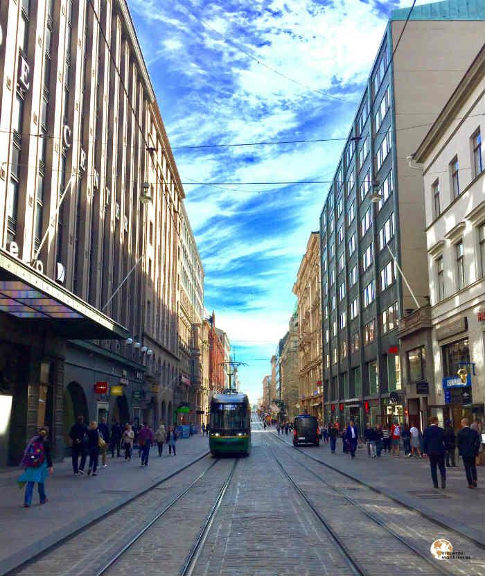 Calle principal Helsinki