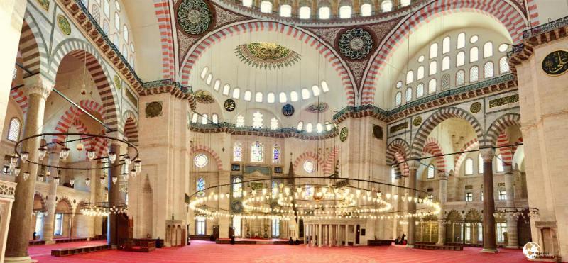 Mezquita de Soliman por dentro